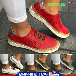 Womens Breathable Slip On Sneakers Loafers Lady Flat Casual