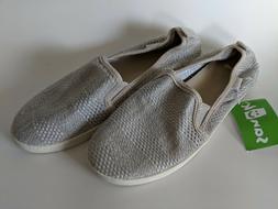 Sanuk Womens Brook Knit Slip Ons Grey Sz 7 New Loafers NEW 1