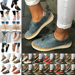 Womens Casual Shoes Slip On Plimsolls Loafers Flats Sneakers