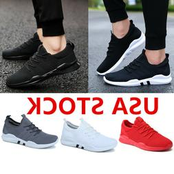 Womens Flyknit Running Shoes Breathable Mesh Athletic Sneake