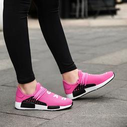 Womens Girls Fashion Casual Knitted Sports Sneakers Athletic