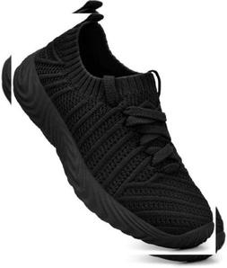 QANSI Womens Girls Fashion Casual Knitted Sports Sneakers At