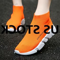 Womens Ladies Athletic Trainers Walking Sports Sock Sneakers