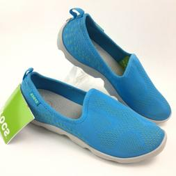 Crocs Womens Light Blue Size  8 US Mesh Slip on Sneakers Sho