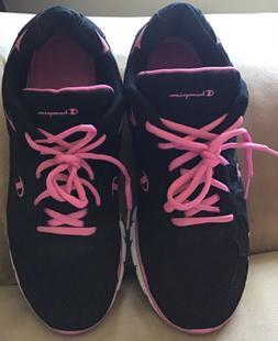 Champion Women's Mesh Sneakers. Size 11W. Black & Pink.