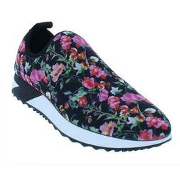 Steve Madden Womens Speed Black Sneakers Shoes 8.5 Medium  B