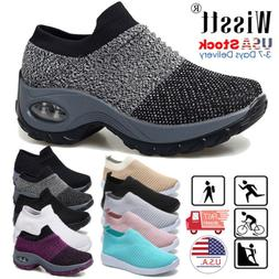 Womens Sport Air Cushion Sneakers Breathable Mesh Walking Sl