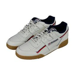 Reebok Workout Plus Mu Mens White Leather Low Top Lace Up Sn