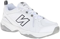 New Balance Women's WX608v4 Training Shoe, White/Navy, 8.5 D