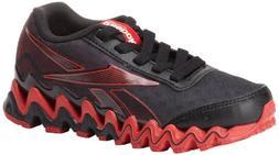 Reebok Zigultra Running Shoe ,Black/Excellent Red,1 M US Lit